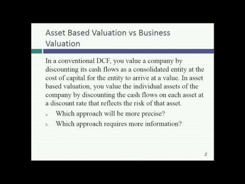 Session 21: Closing up pricing, asset based valuation & private company valuation