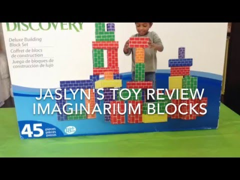 IMAGINARIUM DISCOVERY BUILDING BLOCKS SET JASLYN TV TOY REVIEW