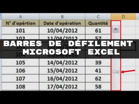 Microsoft Excel - Insérer et utiliser les barres de défilement -Insert and use the scroll bars