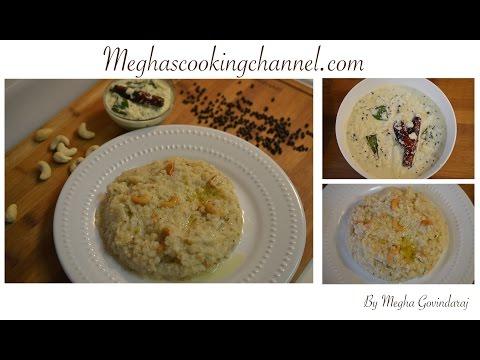 Ven Pongal & Coconut Chutney - Megha Govindaraj - Megha's Cooking Channel Episode -37