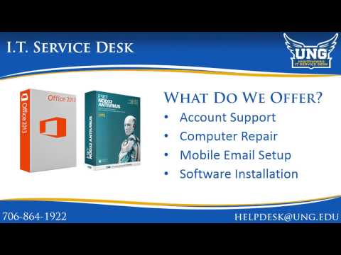 UNG IT Service Desk Information - Summer 2014