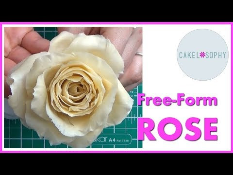 How to Make Free-Form Rose (No Cutters)