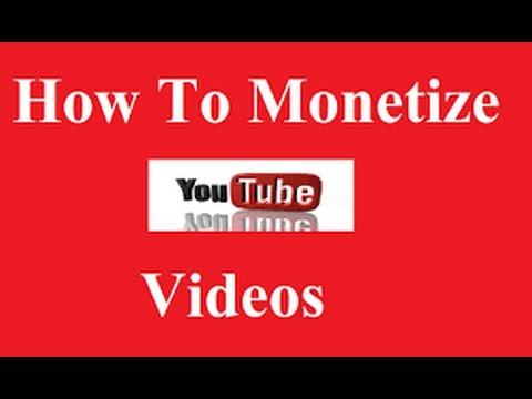 How to monetise videos of youtube in computer