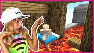 Floor is LAVA Challenge in Minecraft!!!