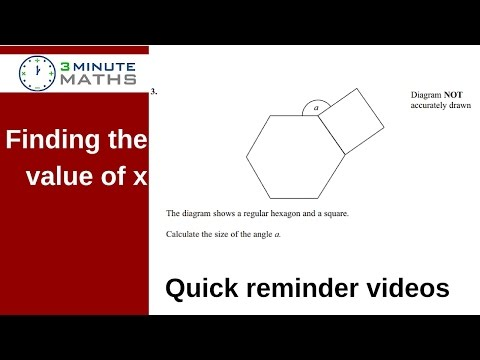 How to calculate a missing angle - hexagon square GCSE level 4