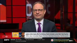 [BREAKING]Lakers initial trade offer for Anthony Davis includes Lonzo Ball, Kyle Kuzma| NBA Gametime