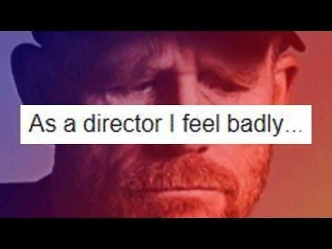 SOLO director RON HOWARD responds to fan's STAR WARS lament....