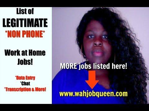 List of LEGITIMATE Work at Home NON PHONE Jobs - Online HUSTLES (2018)
