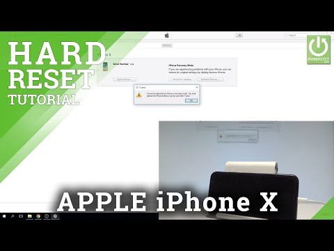 Remove Passcode in iPhone X - Factory Reset / Restore iOS