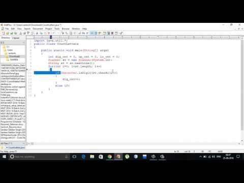 Counting Letters in a string using java
