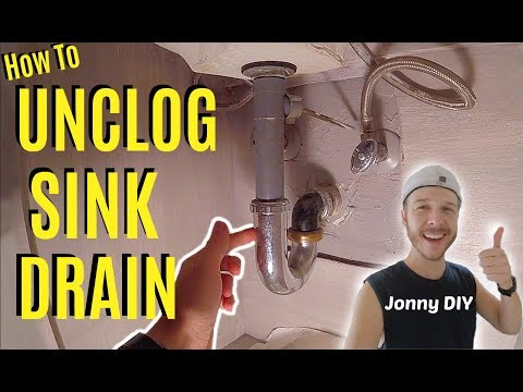 How To Easily Unclog Sink Drain -Jonny DIY