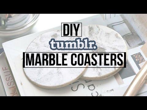 DIY Tumblr Marble Coasters | Dana Jean
