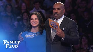 HUGE final answer! Incredible Fast Money COMEBACK!!! | Family Feud