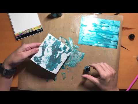 Making Holiday cards using Yupo, Alcohol Inks, And Cricut