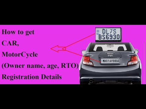 How to get Car Motorcycle registration details