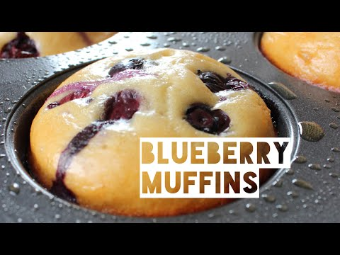 Healthy Blueberry Muffin Recipe | How To Make Low Fat Low Calorie Blueberry Muffins