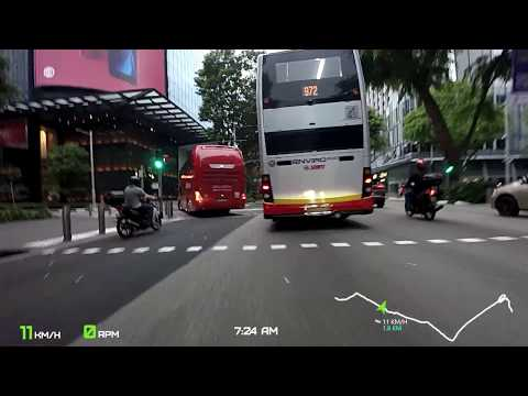 20180526   Cycling through Orchard Rd to National Stadium