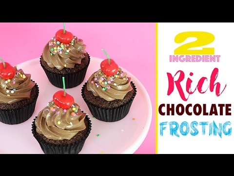 CHOCOLATE FROSTING Recipe with 2 INGREDIENTS! Easy-as | Elise Strachan