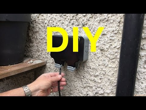 How to fit a Weatherproof Double Outside Socket Yourself