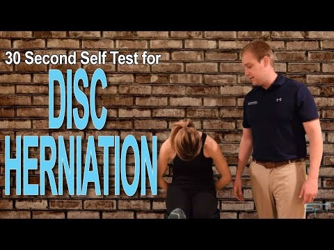 How to diagnose a disc herniation