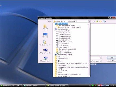 Kako mountati ISO image z Daemon Tools
