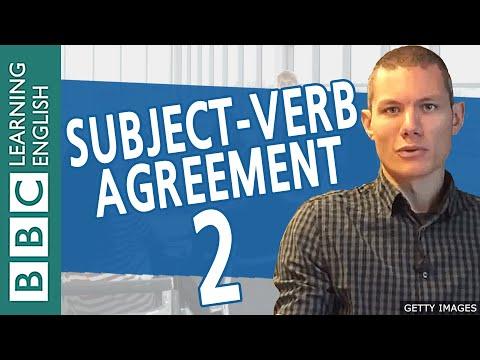 BBC Masterclass: Subject Verb Agreement 2