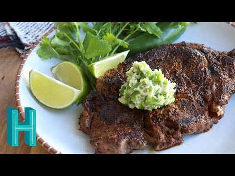How to Make Ribeye Steak with Jalapeño Butter |  Hilah Cooking