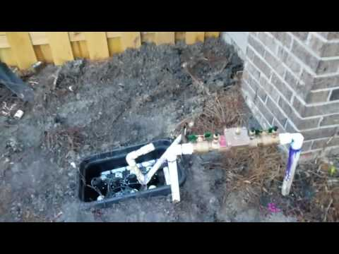 Installing 4 new rain bird irrigation valves, backflow, and digial timer controller(2)