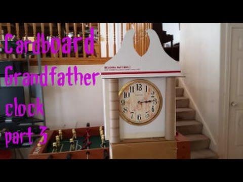 Cardboard grandfather clock part 3