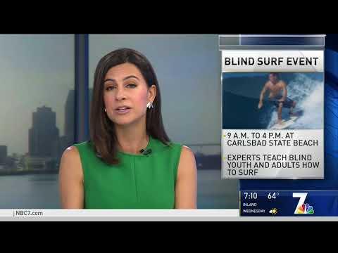 NBC 7 Highlights Blind Surf Event