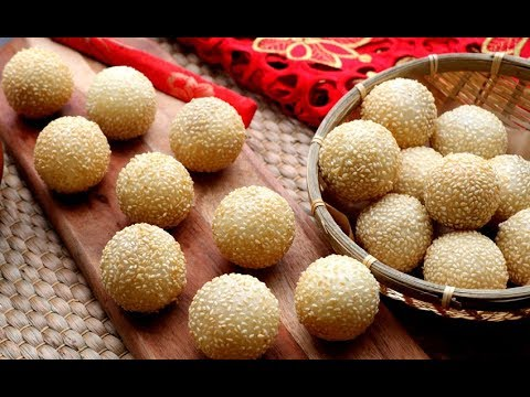 How To Make Super Crispy, Soft & Chewy Sesame Balls | Lunar New Year Recipe | Jian Dui 煎堆
