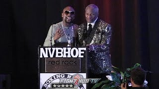 Download FLOYD MAYWEATHER JR GIVES FATHER EMOTIONAL INDUCTION SPEECH AT 2019 NEVADA BOXING HALL OF FAME Video