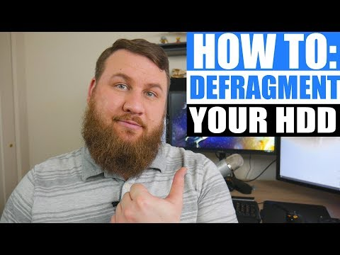 How to defragment your HARD DRIVE (HDD) in windows 7 and above.