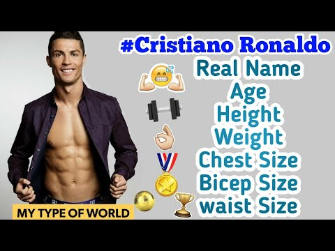 Cristiano ronaldo's 💪 Height, Weight And Body Measurements😎- Interesting
