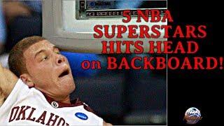 5 NBA Superstars Hits Head on Backboard!