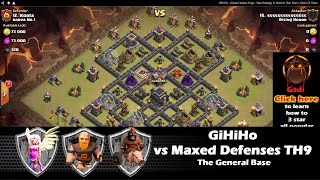 GiHeHo - Giants,Healers,Hogs - New Strategy In Wars!! | Clan Wars | Clash Of Clans