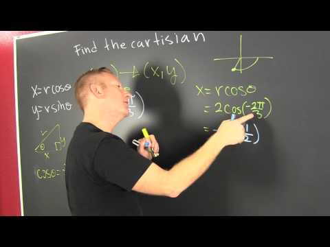 Find the Cartesian Coordinate of a Polar Point