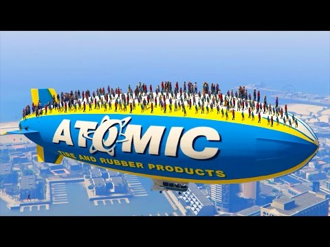 CAN 100+ PEOPLE STAND ON THE BLIMP IN GTA 5?