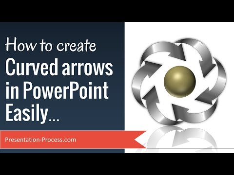 How to create Curved Arrow in PowerPoint Easily