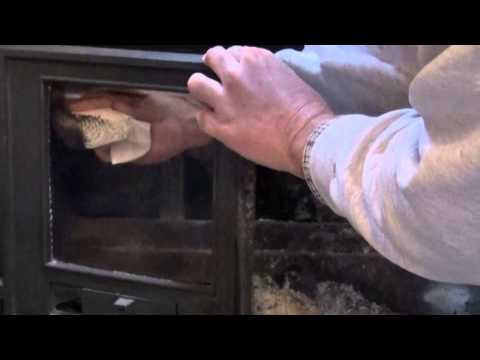 Quick Tip to Clean Wood Stove Glass