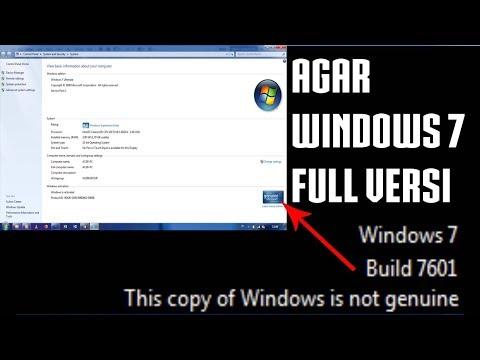 Cara Membuat Windows Menjadi Full Versi (Genuine) | Mengatasi Windows 7 Build 7601