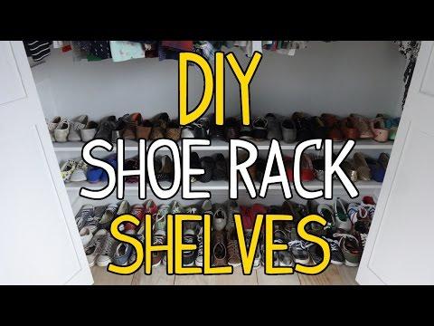 How to Build Simple DIY Shoe Rack Shelves!