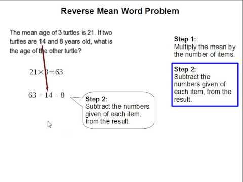 Reverse Mean Word Problem