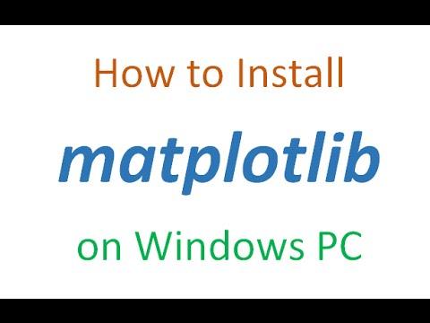 How to install matplotlib on Windows PC