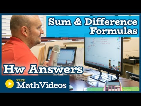 Hw Answers - Sum and Difference Formulas