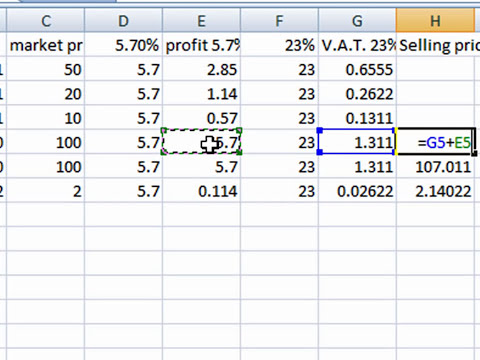 Excel Sum Percentage Multiply  Formula to Calculate an INVOICE