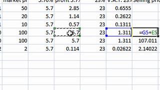 Excel Sum Percentage Multiply Formula