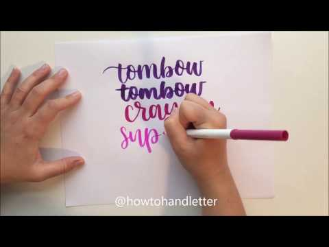 Easy (and Cheap!) Hand Lettering For Beginners Using Crayola Markers (inexpensive!)