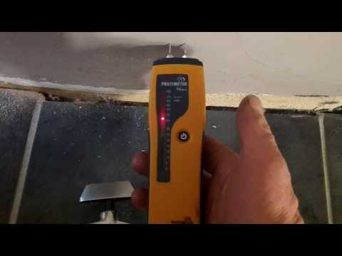 A damp meter used to falsely diagnose rising damp