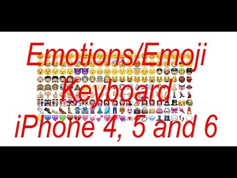 How To - Enable Emoji/Emoticons Keyboard on iPhone 4, 5, and 6